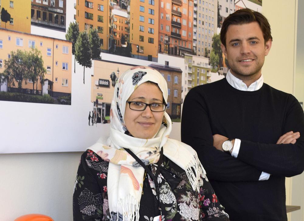 Nagwa Elmohr, projektledare och Alexander Markatatos, biträdande projektledare.