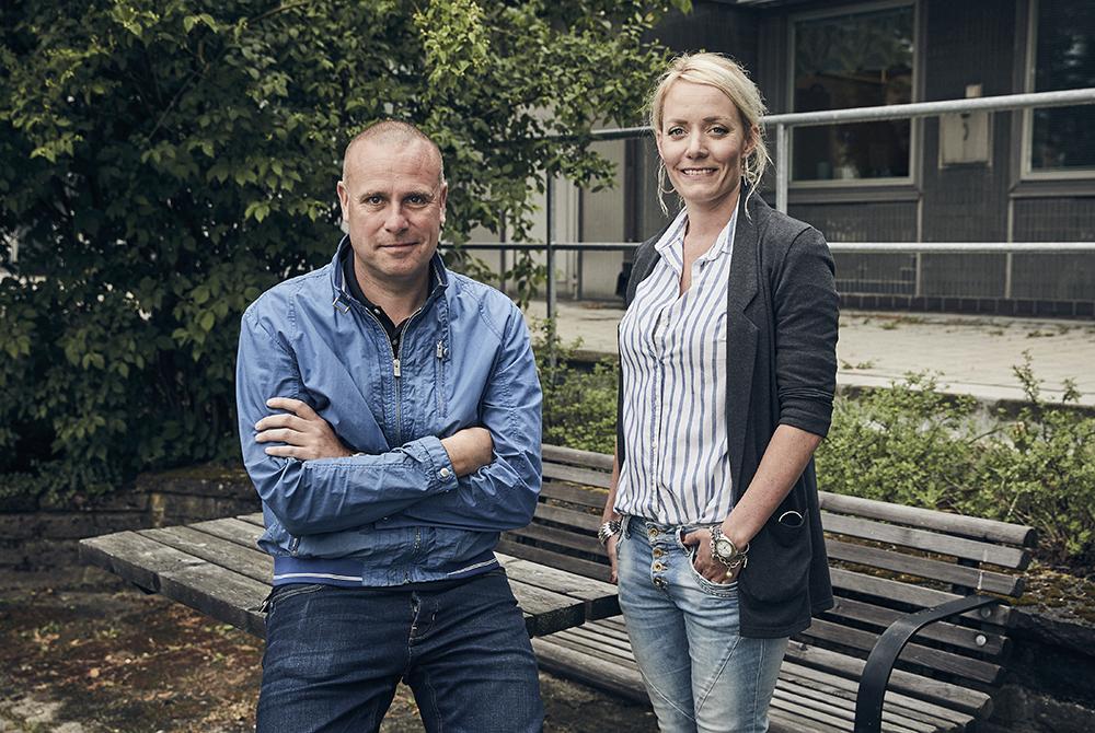 Henrik Andersson och Frida Nordvall på Regionfastigheter. Foto: Freddy Billqvist