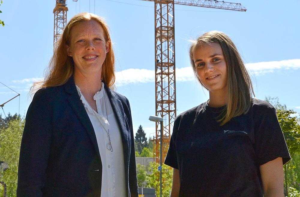 Magdalena Låstbom, projektledare och Linda Nilsson, driftingenjör hos Västfastigheter. Foto: Hans Karlsson