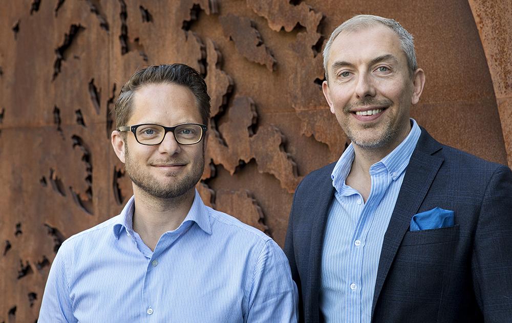 David Samuelsson, systemvetare och CPO för daily banking och Christian Edström, CPO för Techstream, Digital Banking. Foto: Thomas Henrikson