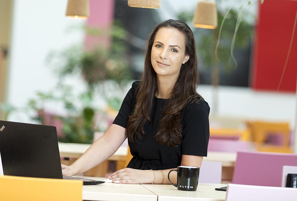 Malina Borg Sigg, Business Manager på ALTENs kontor i Stockholm. Foto: Gonzalo Irigoyen