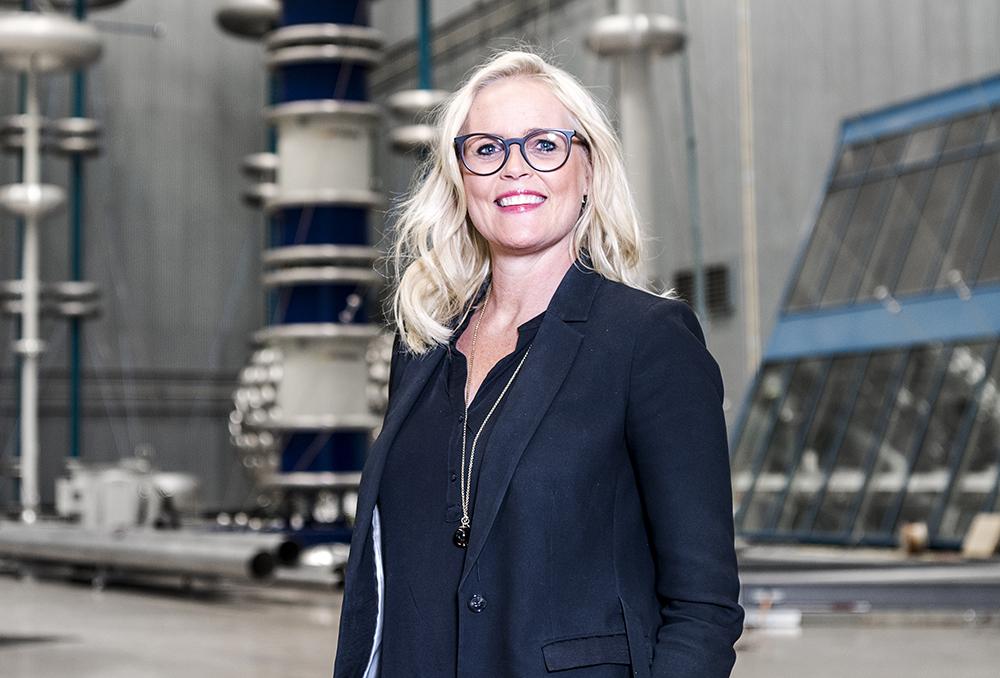 Pia Brantgärde Linder, affärsområdeschef för High Voltage Products i norra Europa på ABB. Foto: Jonas Bilberg / ABB