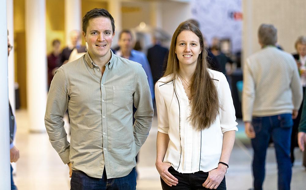 William Jonsson och Annika Uddgård på SEB. Foto: Gonzalo Irigoyen