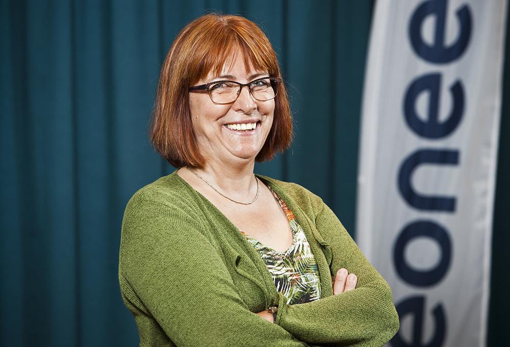 Karin Denti, avdelningschef för Software & Test på Veoneer. Foto: Patrik Bergenstav