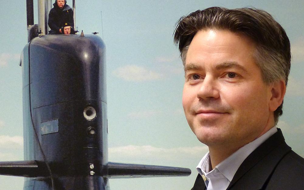 Lennart Klingenstierna, projektledare för undervattenssystem.