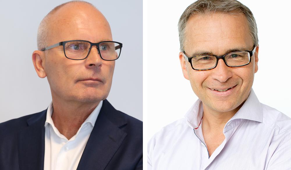 Hans Werner, vd på Radareco och Marcus Gullberg, Director of Business Development Microsoft (Foto: Marit Solblad).