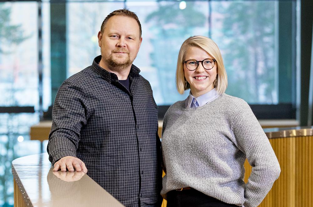 Mikael Qvist, Automation Analyst på PostNord i Stockholm och Alma Söderqvist, Business Analyst på PostNord i Köpenhamn. Foto: Gonzalo Irigoyen