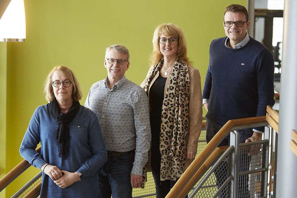 Gunnel Modin, Stefan Ellström, Annika Axelborn och Lars Rahm på Bolagsverket. Foto: Olle Melkerhed