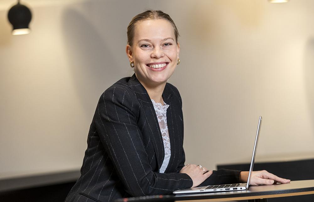 Maria Tilander, handläggare på avdelningen för cybersäkerhet och säkra kommunikationer på MSB. Foto: Gonzalo Irigoyen