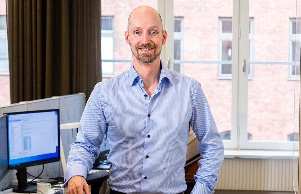 Daniel O Andersson, it-utvecklingschef på Pensionsmyndigheten. Foto: Gonzalo Irigoyen