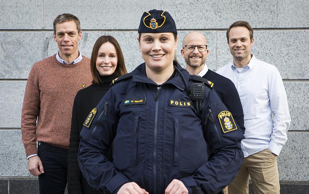 Tomas Herlestam, Lina Bjurhager, Maria Waldö, Mattias Karlsson och Christoffer Strömblad. Foto: Johan Marklund