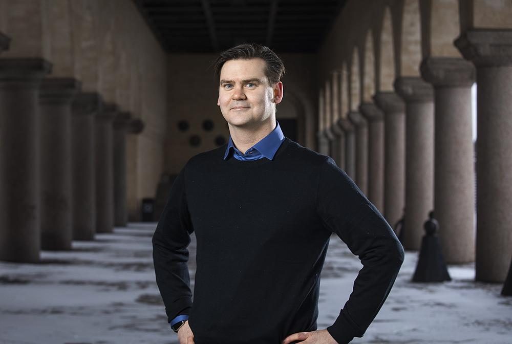 Andreas Horndahl, AI-utvecklare på Arbetsförmedlingens AI-center. Foto: Johan Marklund