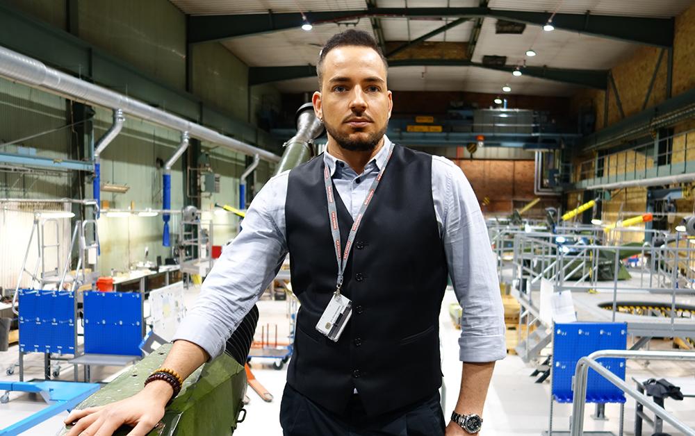 Eliaz Fält, IT-säkerhetschef för BAE Systems i Sverige.