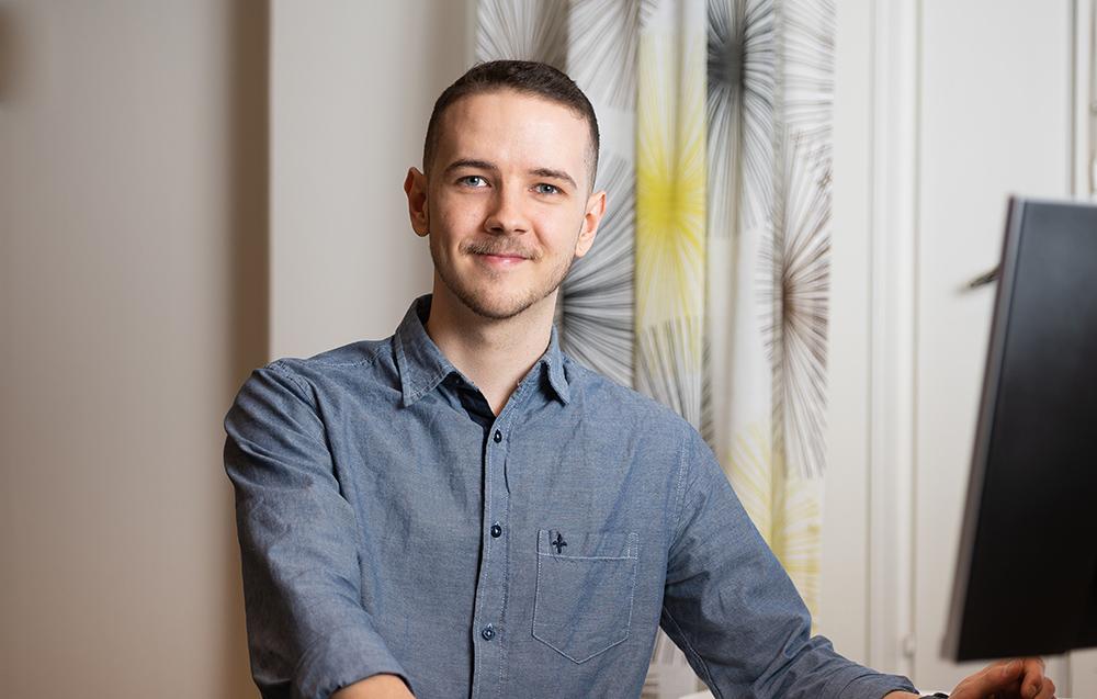 Martin Gunnarsson, systemutvecklare. Foto: Pär Olert
