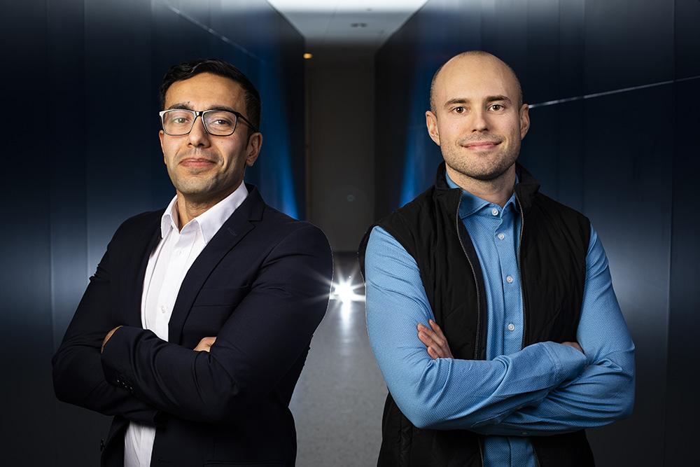 Payam Khatibnia och Joakim Sandberg. Foto: Johan Marklund